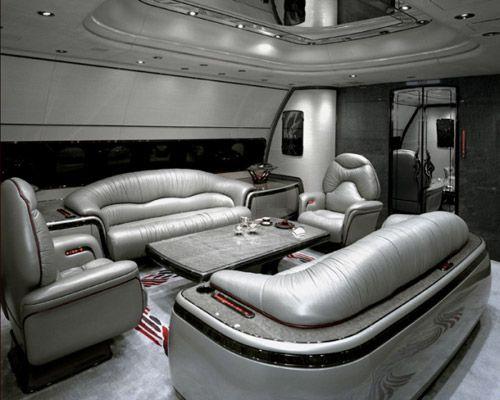组图:揭秘世界最豪华私人飞机内部什么样